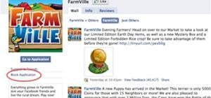 Block FarmVille on Facebook
