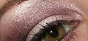 Create a glamorous purple smoky eye makeup look