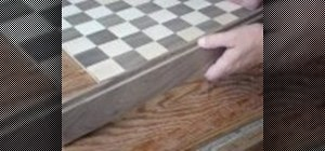 Build a wooden chessboard
