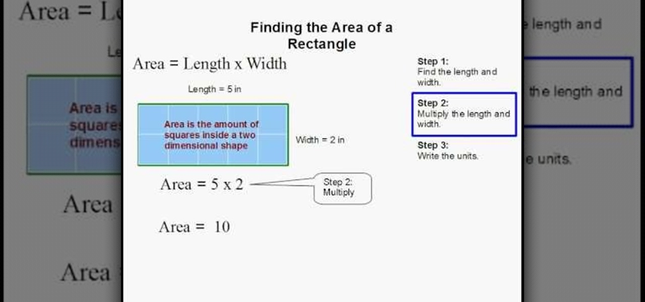 How To Find The Area Of A Rectangle Quickly And Easily Math