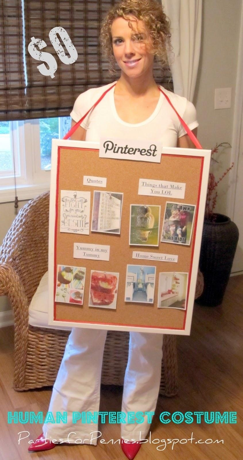 Non sexy adult halloween costume ideas for women cafemom social media networks ever and it also makes a great simple costume you can go with an actual cork board and pin pictures to yourself like heidi rew solutioingenieria Gallery