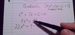 Work out quadratic equations in algebra