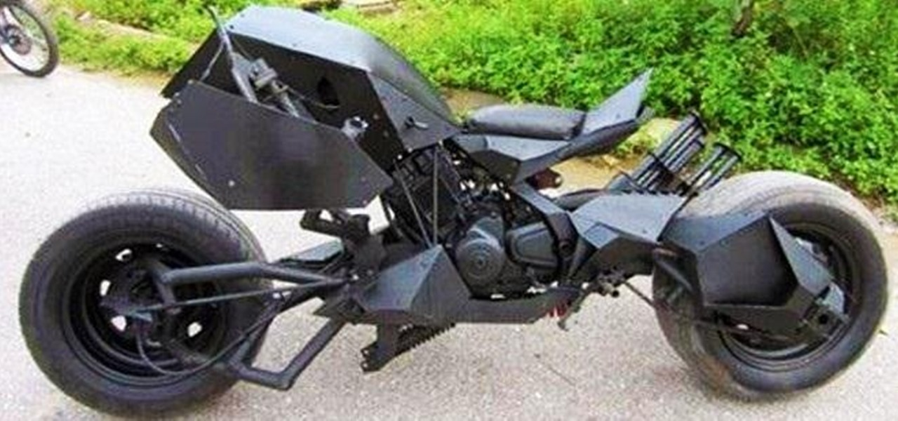 Bored with Your Cycle? Turn It into Your Very Own Batpod!