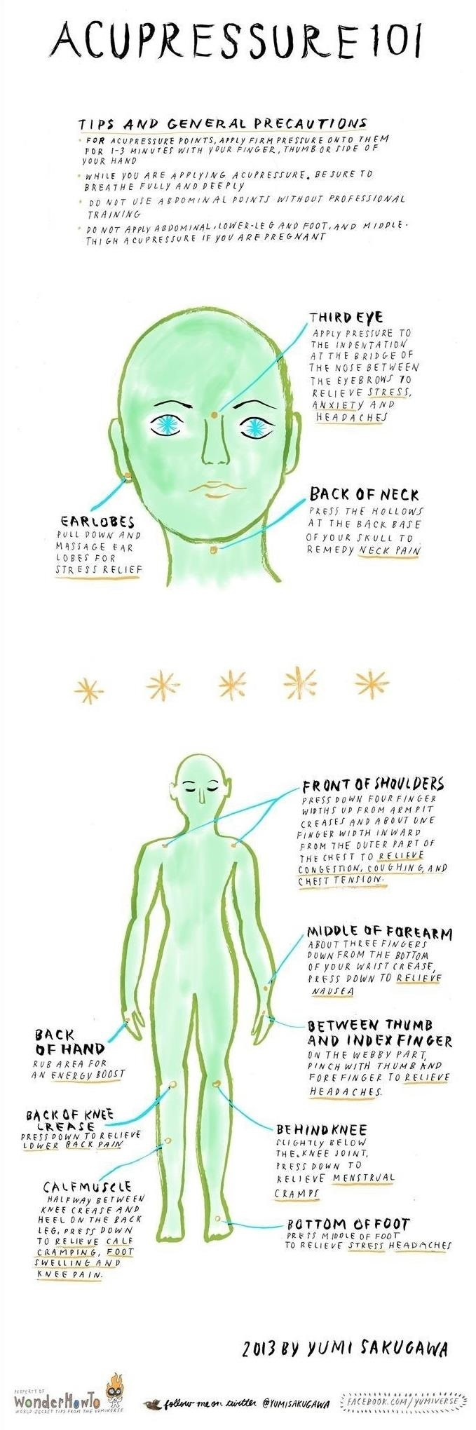 Acupressure 101: Relieve Mental & Physical Stress Using These Acupoints