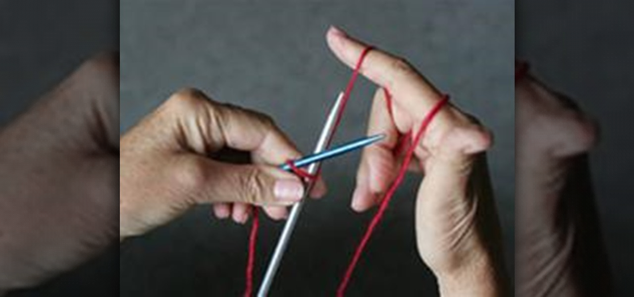 How To Do The Two Needle Cast On Knitting Knitting Crochet