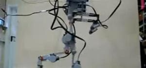 LEGO BiPed Robot takes a Stroll