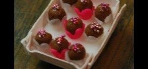 Make miniature Valentine swirl truffles