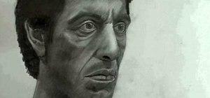 Draw Tony Montana (Al Pacino) from Scarface