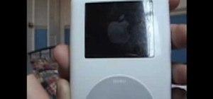 Reboot a frozen iPod Classic