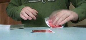 Do a classic beginner's magic card trick