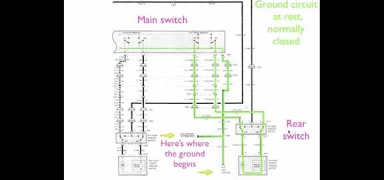 how to read a window motor electrical diagram for a car. Black Bedroom Furniture Sets. Home Design Ideas