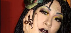 Create a sexy Medusa makeup look for Halloween