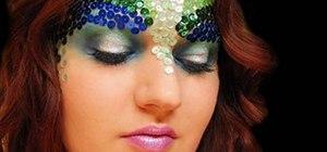 Create a mermaid makeup look for Halloween