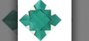 Origami a triangular Japanese paper photo frame