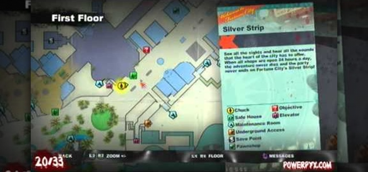 dead rising 2 map of everything