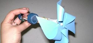 Make a battery operated paper pinwheel that spins