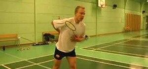 Jump smash in badminton