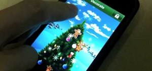 Use the Christmas Delight iPhone app to decorate your own Christmas tree