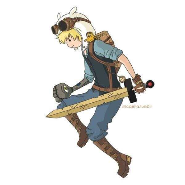What Adventure Time Would Look Like if It Was Steampunk