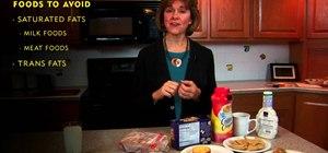 Avoid foods that raise cholesterol