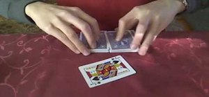 Perform a simple self-working card trick