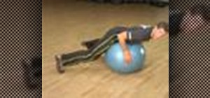 Do back exercises using a stability ball