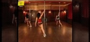 Walk properly around the pole when pole dancing