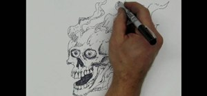 Draw a skull with a Sharpie