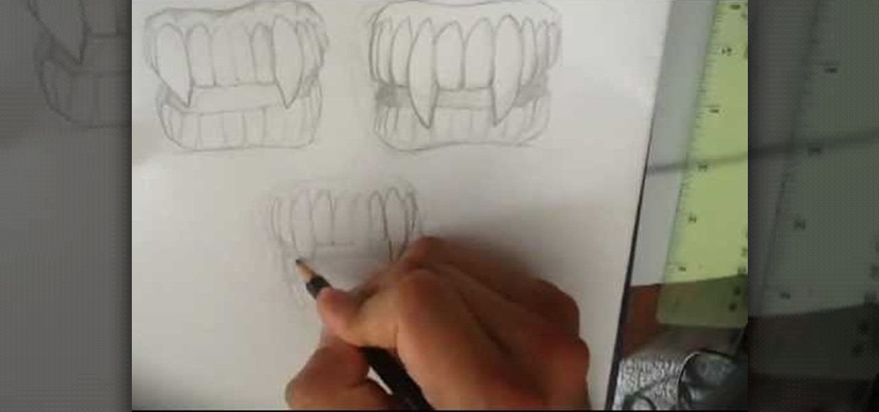 Draw Vampire Fangs