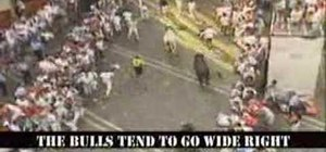 Run with the Bulls in Pamplona Spain