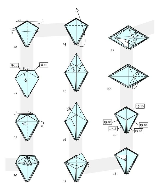 Easy Origami Snowflakes