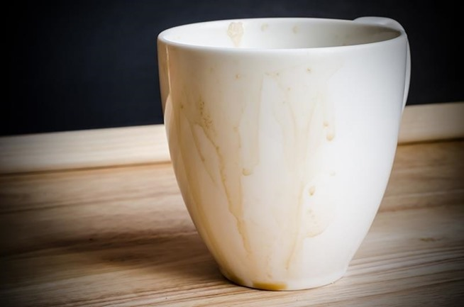 how to clean sticky coffee stains