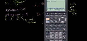 Use the quadratic formula on a graphing calculator