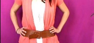 Wear a belt with Julie G