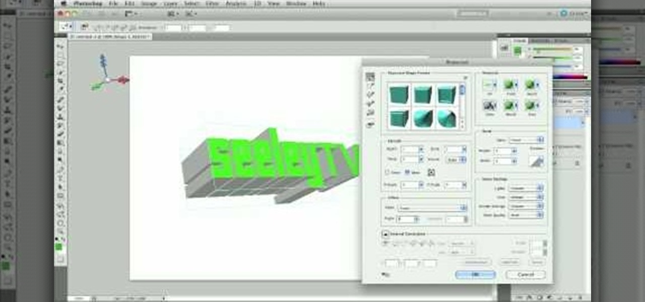 how to use 3d tool in photoshop cs5