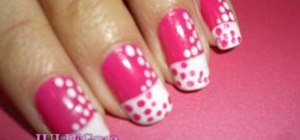 Apply a twisted polka dot art design to your nails