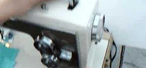 Fill a bobbin on a vintage Kenmore sewing machine