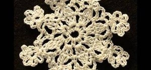 Crochet a eight-point snowflake
