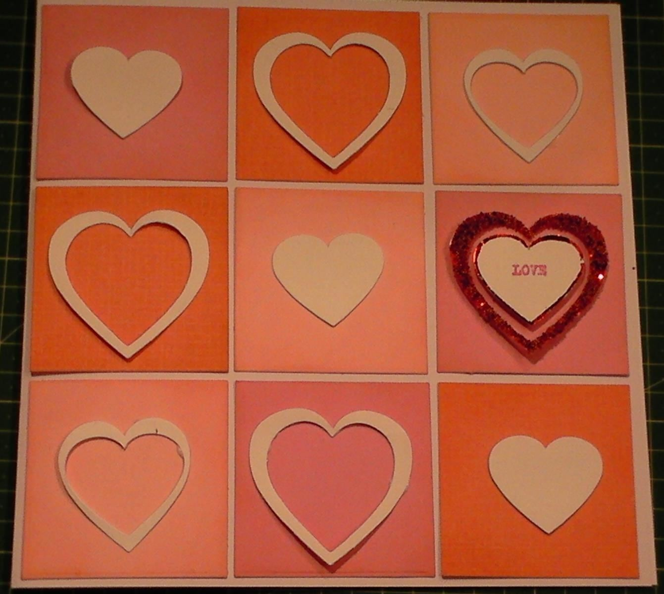 How to Make a Modern Valentines Day Heart Diecut Card