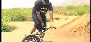 Dirt jump and ride trails on a BMX bicycle