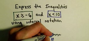 Express inequalities using interval notation
