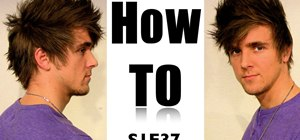 Style a faux hawk in straight hair for men