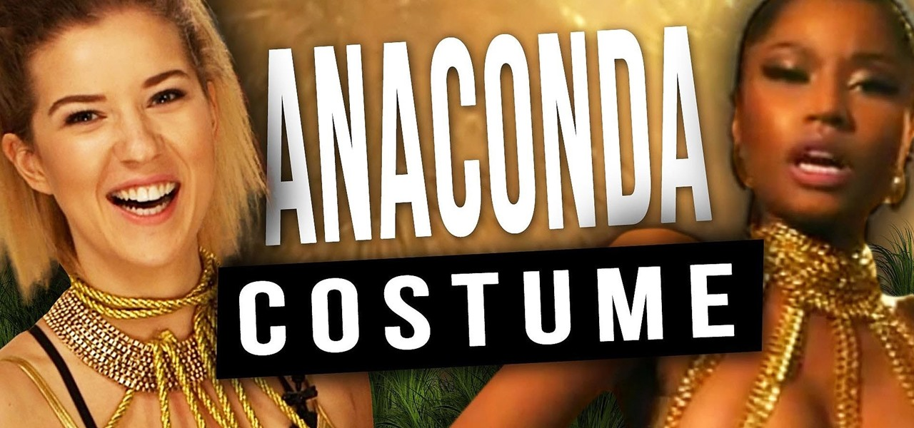 "Easy DIY Nicki Minaj Costume from the ""Anaconda"" Music Video"