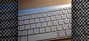 Clean an Apple keyboard with Mr. Clean Magic Eraser