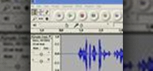 Adjust the volume of a track in an Audacity project