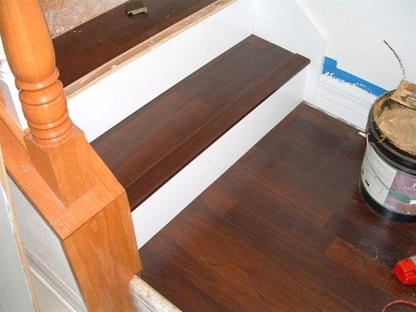 Laminate flooring how install laminate flooring on stairs for Installing laminate wood flooring