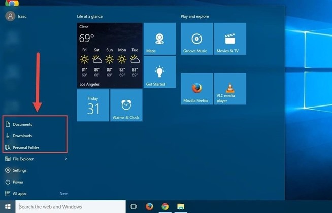 how to get start menu back in windows 10