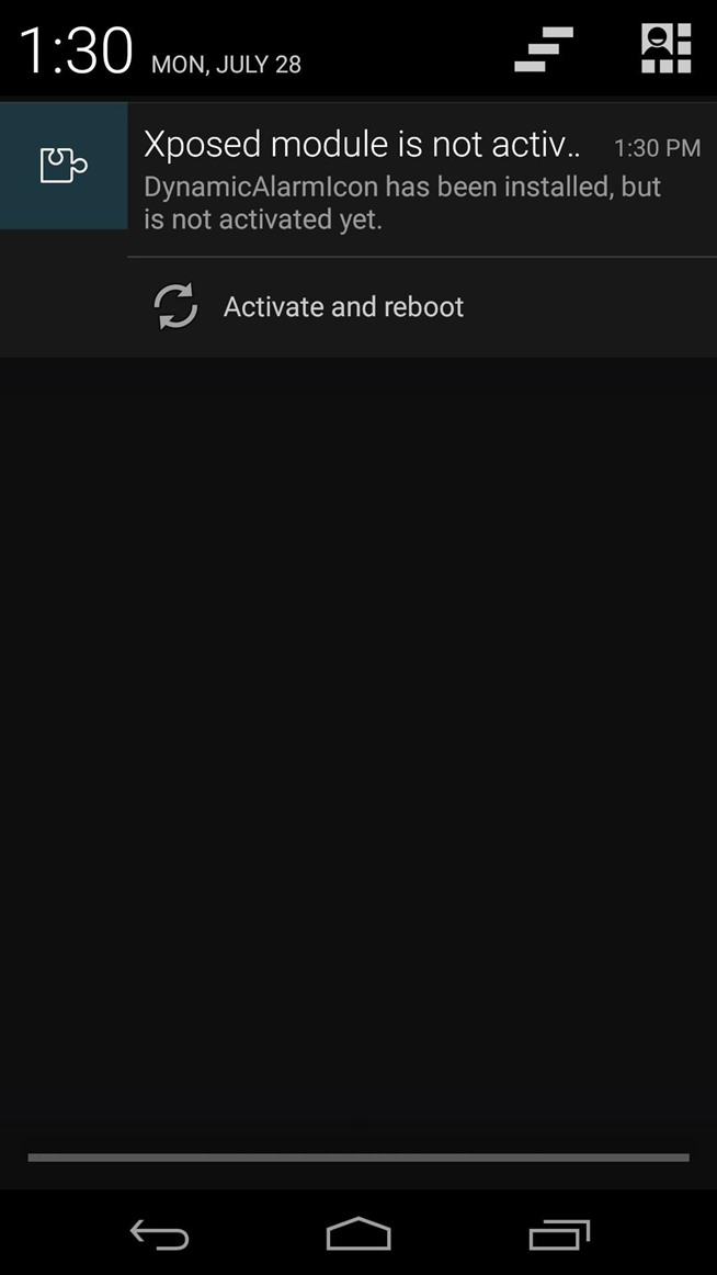 Upgrade Your Nexus 5's Alarm Clock Status Bar Icon to Include the Next Alarm Time