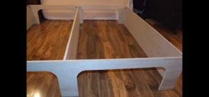 Build a platform storage bed for under $200