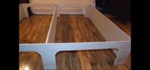 Build a platform storage bed for under $200